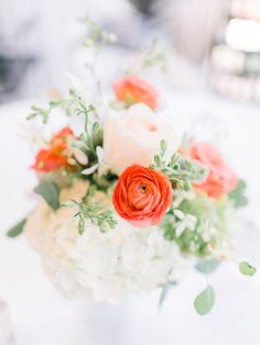 Pretty wedding flowers: http://www.stylemepretty.com/little-black-book-blog/2015/01/06/classically-romantic-virginia-military-wedding/ | Photography: Rachel May - http://rachel-may.com/