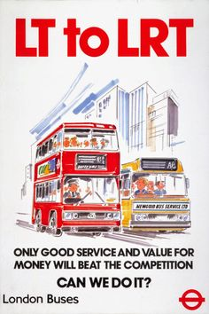 During the 1990's #London Buses was on the verge of being deregulated. #TFL #Regulation #Transport #Privatisation #LondonBus #LondonBuses #LRT #economics #LondonTransport #RedBus