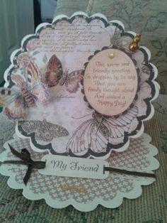 mariposa birthday easel card