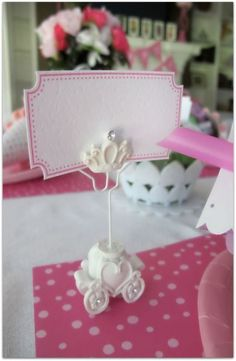 Princess Place Card - even if it's just a folded paper with fancy writing I think it's fun for the girls.
