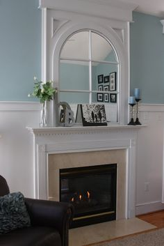 a mirror like this over the fireplace would look amazing!
