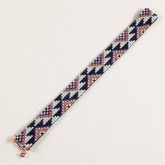 Native American Inspired Aztec Bead Loom Bracelet par PuebloAndCo