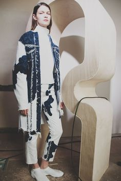 Painted blur denim at Faustine Steinmetz AW15 presentation LFW. See more here: http://www.dazeddigital.com/fashion/article/23738/1/faustine-steinmetz-aw15