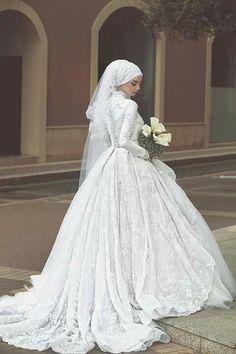 Hijab royal weddings dress