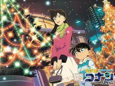 Conan and Ran, taking in the beautiful Christmas lights together. Heiji Hattori, Gosho Aoyama, Detektif Conan, Magic Kaito, Case Closed, Me Me Me Anime, Kawaii Anime, Manga Anime, Fan Art