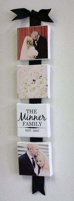 this is a nice idea with ribbon to display canvas or boards with items of interest for collages or collections - artwork, photos, patterns, etc.