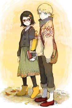 Sarada and Inojin #casual