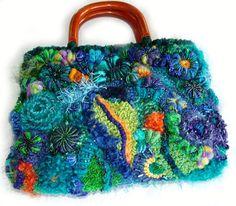 BAGS, PURSES, POUCHES Archive   Renate Kirkpatrick's Freeform Crochet~Knit~Fibre Designs