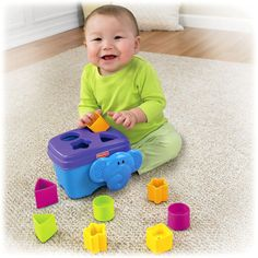 Growing Baby™ Elephant Shape Sorter Product: W3113 Approx. Retail Price: $9.00