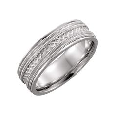 Titanium 6mm Ridged Edge Hammered Wedding Ring Band Size 9.00 Fancy Fashion Available In Various Designs And Specifications For Your Selection Bridal & Wedding Party Jewelry Engagement & Wedding