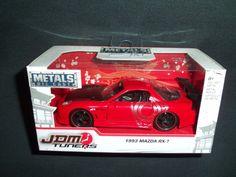 Jada Toys 1993 Mazda RX-7 Red JDM Tuners  1:32 Scale NEW 2017 Die-Cast Metal #JadaToys #Mazda