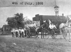 July 4th parade in La Junta, Colorado, 1888.  Raiders of Spanish Peaks (1931).