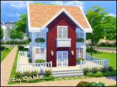 Cozy Gable by sparky at TSR via Sims 4 Updates
