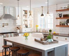 shaker kitchen farmhouse fixtures