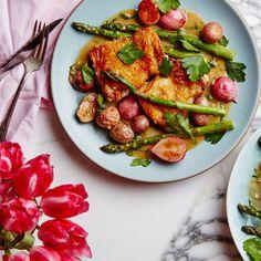 A Simple Crispy-Skinned Chicken Dinner for Spring