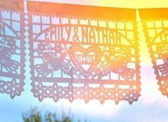 Mexican wedding banners  DOS PALOMAS 3Pack Custom Names by aymujer, $96.00