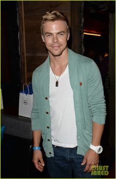 Celeb: Derek Hough at Hyde Lounge for Dells event pre-Beyonce concert in Los Angeles July 2013.