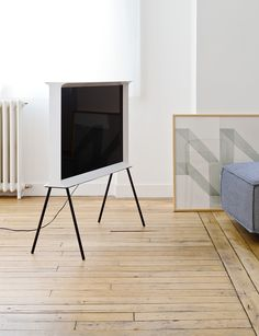 """* after several years without a tv this actually makes me want to own one again// Samsung Serif TV // Ronan & Erwan Bouroullec designed a TV which does not """"belong to the world of technology, but the world of furniture and design""""."""