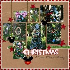Great scrapbook page - would also make a cute Christmas card