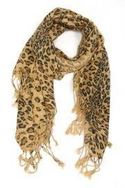 Leopard print sjaal