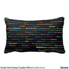 Roslyn Text Design I Lumbar Pillow