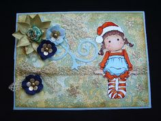 Márcia - cartões: Easel card de Natal