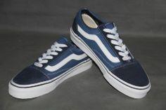 Vans Classic Canvas 2-Tone DENIM BLUE/BLUE With White Curve Shoes#cheapvans