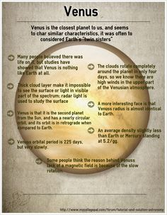 This is an infographic of Venus.  To read more, you may visit http://www.mycollegepal.com/forum/tutorial-and-solution-astronomy