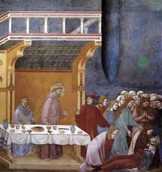 """""""Legend of St Francis - 16. Death of the Knight of Celano"""" Giotto di Bondone"""