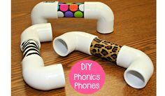 DIY Phonics Phones. These are great for helping students who are having difficulty paying attention to and hearing the differences between sounds. Super easy to make. Step-by-step directions on the blog! http://blog.maketaketeach.com/how-to-make-a-phonics-phone/