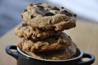 Salted Caramel Chocolate Chunk Cookies