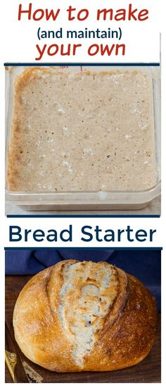 Learn to make and maintain your own homemade bread starter from scratch with step-by-step instructions. This Yeast Starter Recipe takes only 3 simple ingredients and will have you baking your own Artisan Style Sourdough bread, and so much more, in no time! #sourdough #breadmaking #fermentation #sourdoughstarter #homemadebread