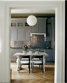 Another gasp - cabinetry, floors, lighting - so well done. Interior Design by Stephen Sills Associates