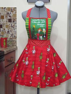 The Grinch Inspired Apron  Every who down in by AquamarCouture