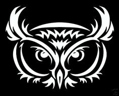 TRIBAL OWL DECAL