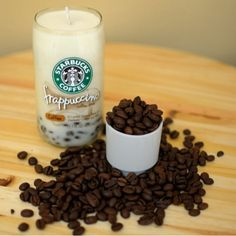 Recycled Starbucks turned into a candle!