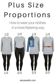 Plus Size Proportions - How to wear your clothes in a more flatting way, Alexa Webb alexawebb. Plus Zise, Mode Plus, Plus Size Work, Look Plus Size, Best Plus Size Jeans, Plus Size Tips, Curvy Fashion, Look Fashion, Womens Fashion