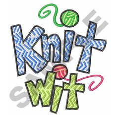 KNIT WIT embroidery design