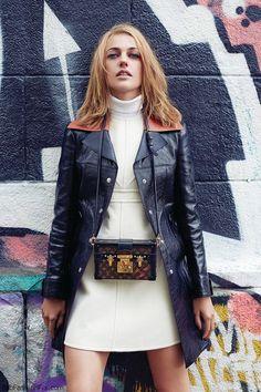 Meryem Uzerli wearing Louis Vuitton for ELLE Turkey October 2014. #meryemuzerli