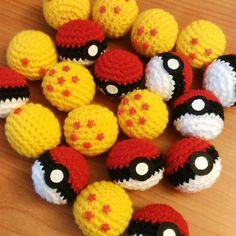Pokeballs y bolas de Dragón listas también (los duendes del polvo también están…