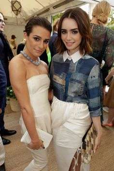 Lea Michele  Lilly Collins