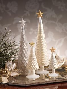 Diamond Design Stemmed Christmas Tree w/ Star Topper Small Dimensions: x Large Dimensions: x X-Tall Dimensions: x Christmas Scents, Christmas Colors, Simple Christmas, Christmas Holidays, Cone Christmas Trees, Ribbon On Christmas Tree, Christmas Wreaths, Christmas Crafts, Silver Christmas Decorations