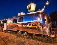 One of the standards of Austin's SoCo area is the old Air Stream 'Hey Cupcake'…