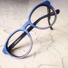 Custom silver and blue wood Bradbury  #woodglasses Rx and Sunglass friendly, and super lightweight!