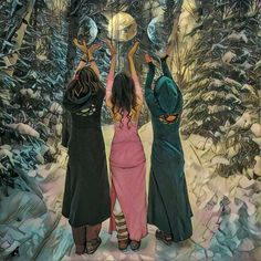 """Empower woman, empower the human community. The base on which the world stands is a women. Maiden Mother Crone, Wicca Witchcraft, Wiccan, Triple Goddess, Sacred Feminine, Goddess Art, Witch Art, Witch Aesthetic, Wise Women"