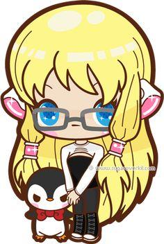 Little Girl with Penguin by mAi2x-chan.deviantart.com on @deviantART
