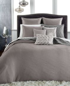 CLOSEOUT! INC International Concepts Rizzoli Gunmetal Comforter and Duvet Cover Sets, Only at Macy's