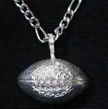 COOL New Football sports pendant sterling silver .925 charm