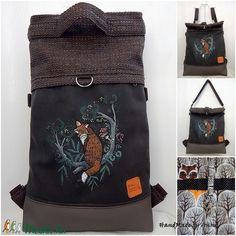 Kirándulás a meseerdőben - kézzel festett Chameleon shopping backpack 4:1  (annetextil) Bags, Handbags, Bag, Totes, Hand Bags