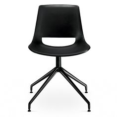 Shop the Palm Trestle Swivel at SUITENY.COM The Palm Chair is compact, lively and expressive. While suggestive of a classic school chair, its familiar form is updated with colors and contemporary materials. Black Furniture, Contemporary Furniture, Furniture Design, Modern Dining Chairs, Desk Chairs, Office Chairs, School Chairs, Stackable Chairs, Swivel Chair